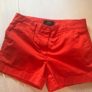J crew chino shorts, 3.5in inseam, burnt orange